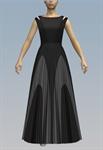 Cut sleeve contrast maxi dress