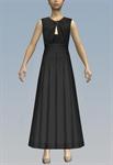 Wrap Peephole Bust & Elastic Belt Dress