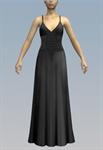 Large lace belt simple maxi dress