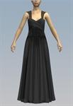 Large lace belt cross bust maxi dress