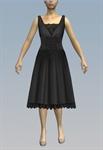 Large lace belt & lacy bust midi dress