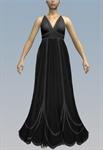 Contrasting seam Marilyn bust maxi dress