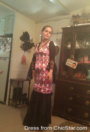 V-neck Slim-Down Pencil Dress