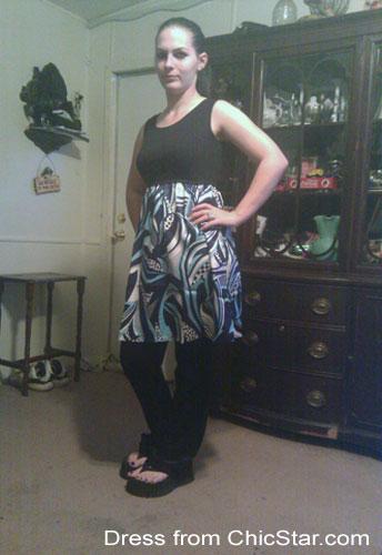 Cute Knit Charmeuse Shift Dress