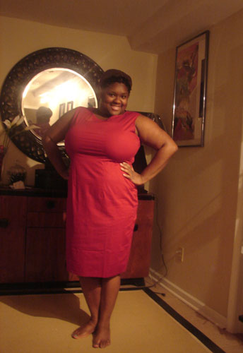 Plus-Size Belted Sleeveless Pencil Dress
