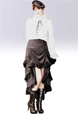Plus Size Three Tiered Tail-skirt