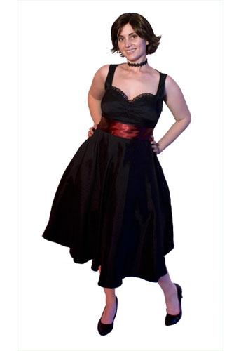 Retro Satin Dress