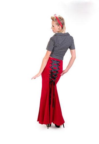 Gothic Long Fishtail Skirt