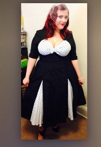 Retro Polka-Dot Swing Dress