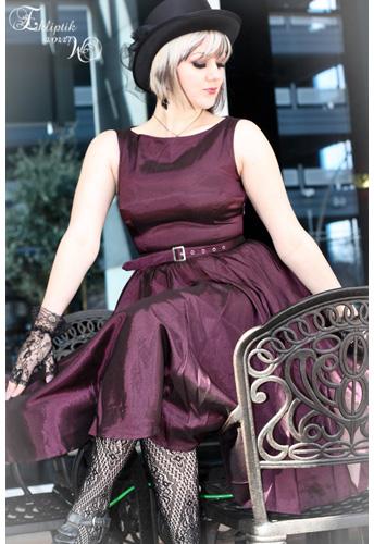 Satin Sleeveless Belted Dress