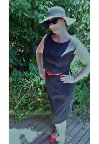 Belted Sleeveless Pencil Dress