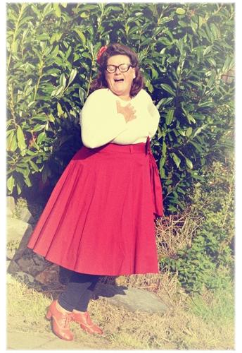 Plus Size 1950s Circle Skirt