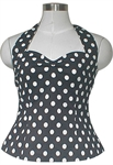 50's Polka-Dot Halter-Top