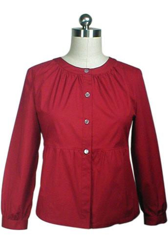 Cotton Long-Sleeves Blouse Shirt