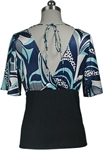 Sexy Kimono Satin Jersey Top