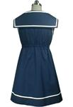 Bow Tie Sailor Mini Dress Tunic Top