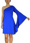 Asymmetrical One-Shoulder Goddess Dress