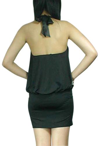 Sexy Drape Halter Mini Dress
