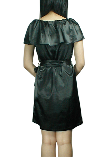 Ruffled Neckline Dress