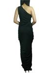 One-Shoulder Ruched Long Dress