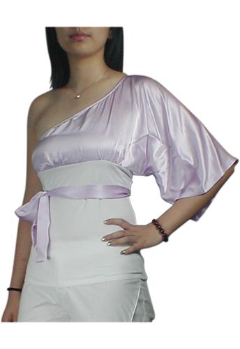 One-Shoulder Kimono Top Shirt