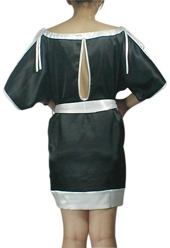Trim Key-Hole Kimono Mini Dress