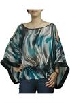 Off-Shoulder Kimono Style Chiffon Top