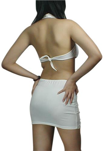 Halter V-Neck Mini Dress