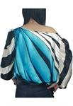 Off-Shoulder Kimono Stripe Tunic Top