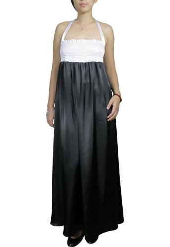 Smocked Halter Maxi Dress