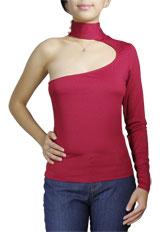 Sexy Asymmetric One-Shoulder Top
