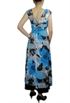 Chiffon Ruched Maxi Dress