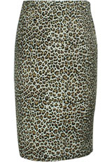 Plus-Size Leopard Retro Urban Pencil Skirt