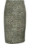 Plus-Size Leopard Retro Urban Pencil Skirt