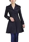 Plus-Size Lace-Up Ruffled Jacket