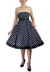 Bowknot Polka-dot Dress