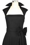 Retro Bow Pleat Dress