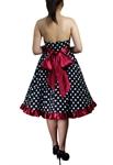 Plus-Size Bowknot Polka-dot Dress
