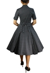 Retro Polka-Dot Swing Dress