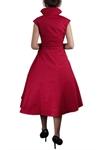 Plus-size Retro Bow Pleat Dress