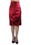 Lace-Up Corset Pencil Skirt