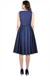 Plus Size Sleeveless Belted Dress
