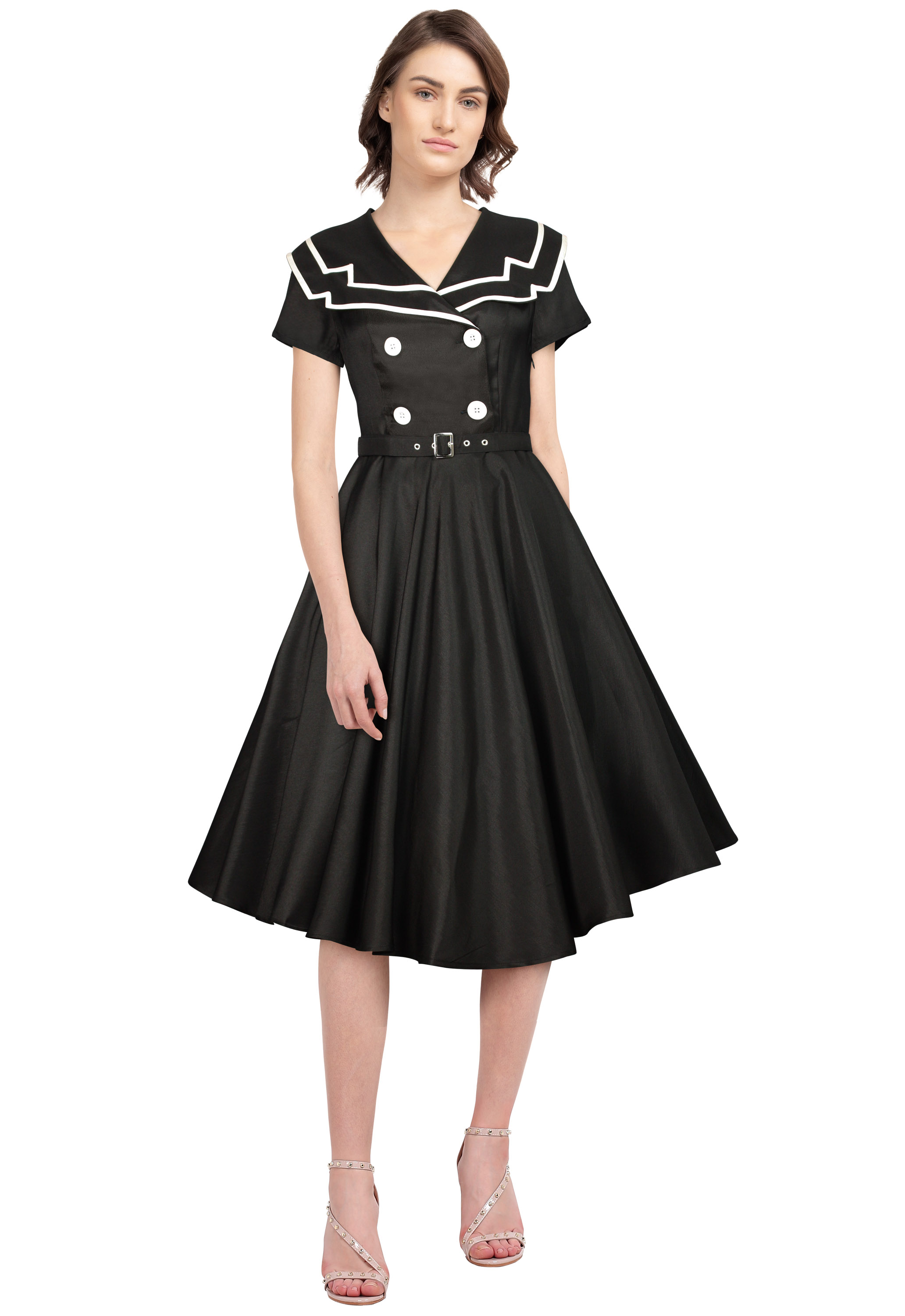 Vintage Sailor Flared Dress