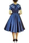 Vintage Sailor Flared Dress