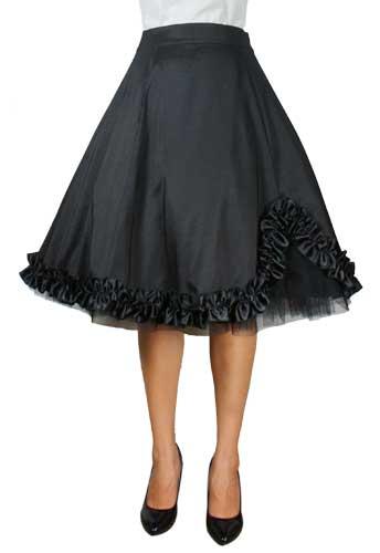 Satin Ruffled Skirt