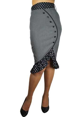 Ruffles Pencil Skirt