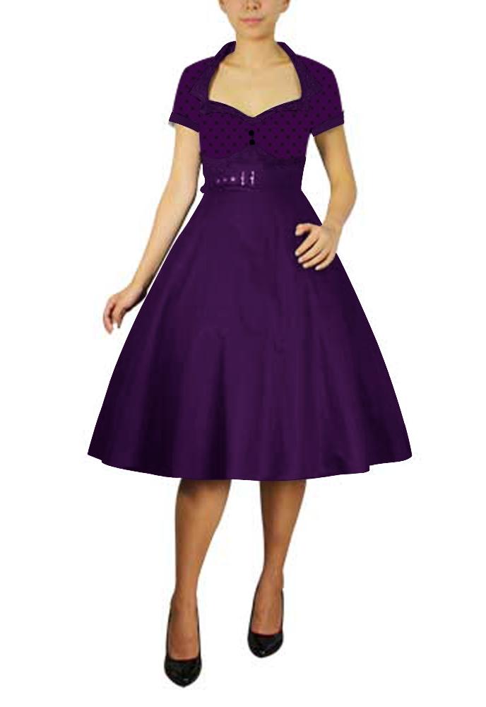Polka-dot Flare Dress