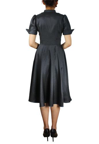 Contrast Swing Dress