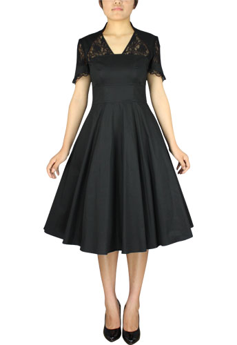 1940s Full Dress with Lace