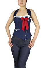 Pinup Sailor Corset Blouse
